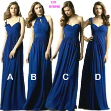 CX SHINE New Custom color & Size! Sweet 4 style long Bridesmaid Dresses colors wedding dress, Prom party dress women Plus size