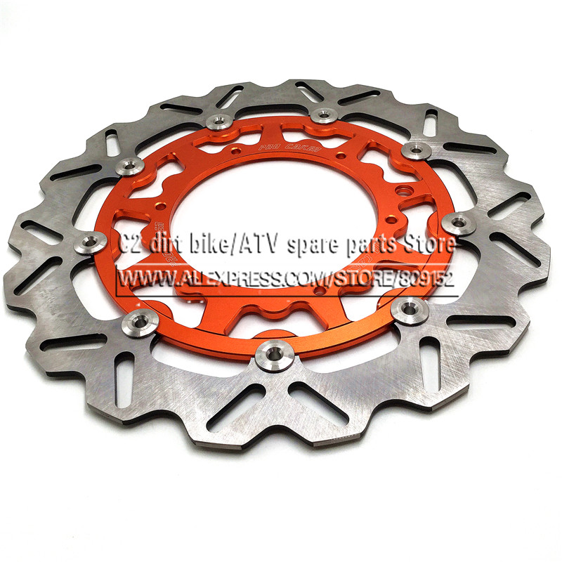 320MM Oversize Front Floating Brake Disc Rotor KTM EXC GS EXCF SX SXF SXS XC XCR XCW XCF XCRF MXC MX SMR SIX DAYS Supermoto motorcycle 260mm front wavy brake disc rotor for ktm exc excf sx sxf xc xcw sxs xcf xcfw mx mxc egs smr sxc lc4 sc six days