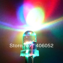 1000PCS/lot Free Shipping round hat 5MM led flash light multicolor diode automatic flashing 0.07W  3.2-3.4V