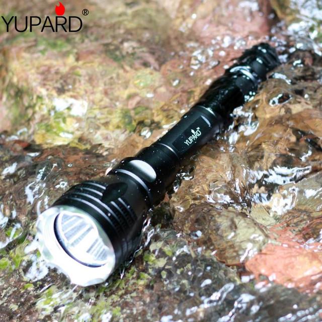 YUPARD pod wodą diver latarka latarka XM-L2 T6 żółte światło lampa wodoodporna nurkowania 100 m + 18650 akumulator + ładowarka