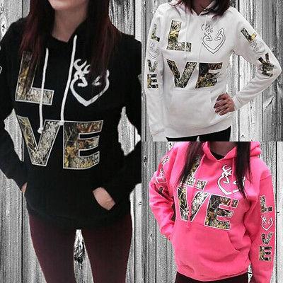 Новый Для женщин с длинными рукавами свитер с капюшоном Повседневное пальто  с капюшоном пуловер Love принт плюс Размеры 416c092f3e9