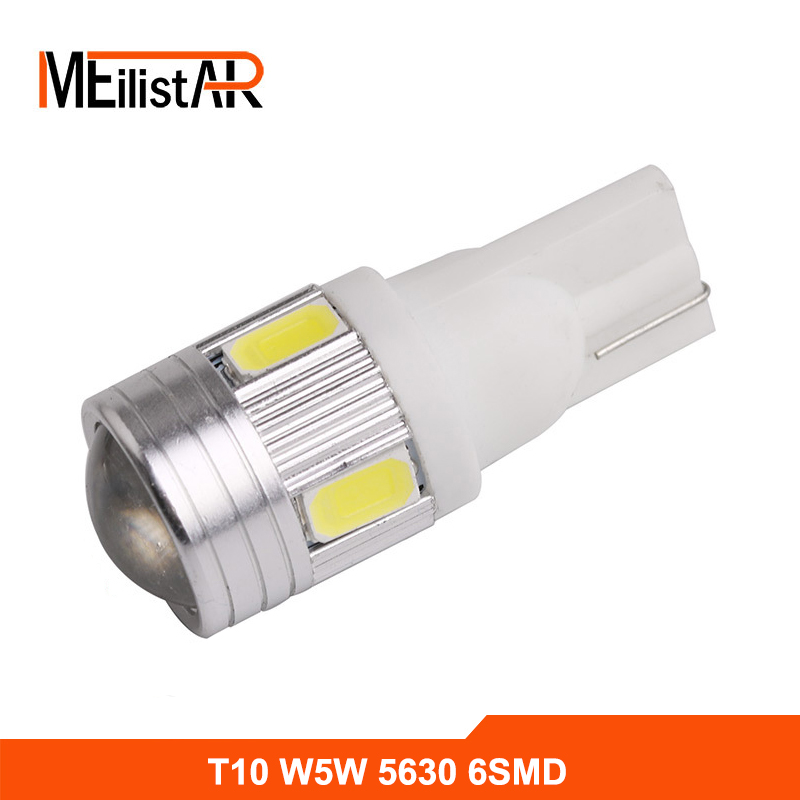 Car Auto LED T10 194 W5W Canbus 6 SMD 5630 5730 LED Light Bulb No error led parking Fog light Auto No Error univera car light 2pcs t10 canbus led car light 6smd 5630 auto no error free 12v w5w 194 168 bulb stopturn signal interior parking light