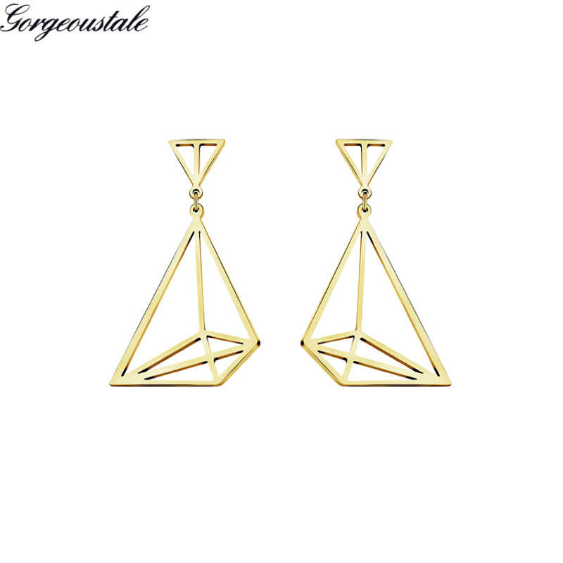 Minimalist Jewelry Trendy Origami Sailboat Stud Earrings Gold Color Women Lucky Gift Stainless Steel Boucle D'oreille Femme