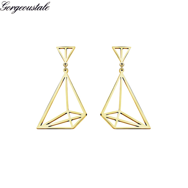 1a09a9100 Geometric Origami Sailboat Earrings Women Fashion Jewelry Gold Color  Stainless Steel Lucky Boat Stud Earring Boucle