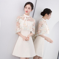 New Women Flower Qipao Elegant Female Stage Show Summer Cheongsam Vintage Improved Evening Gowns Oriental Bride Wedding Dress