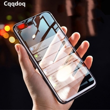 Cqqdoq Plating Tranparent Phone Case For iPhone 5 5s 6 6S 7 8 Plus Soft TPU Protection Cover For iPhone X XR XS MAX Cases Fundas cqqdoq gradient diamond phone case for iphone 6 6s 7 8 plus soft tpu protective shell cover for iphone x xr xs max cases fundas