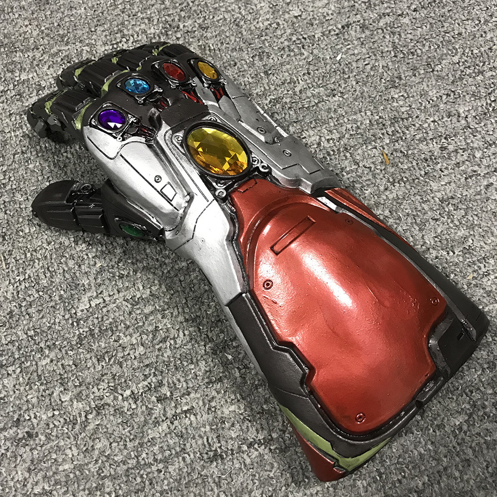 The Avengers 4 Endgame Marvel Superhero Hulk Arm Thanos Latex Gloves Iron Man Infinity Gauntlet Kids Adult Action Figure Toys in Action Toy Figures from Toys Hobbies