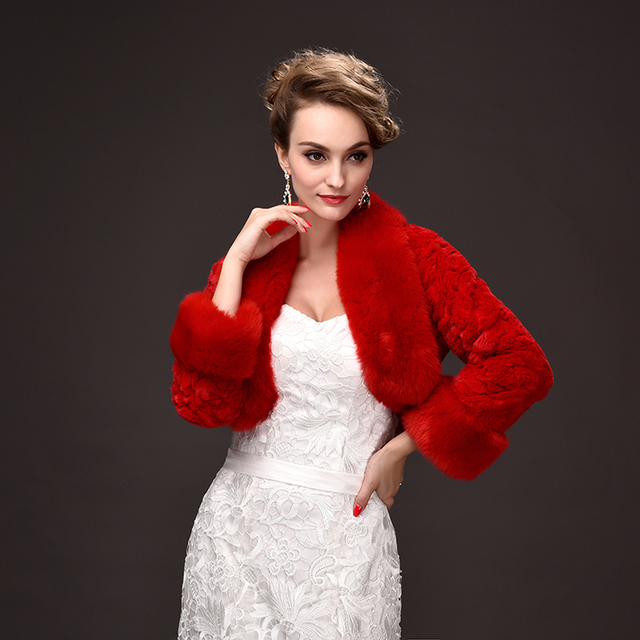 wholesale 2016 new winter women coat wedding bride faux fur shawl all-match short coat shawl