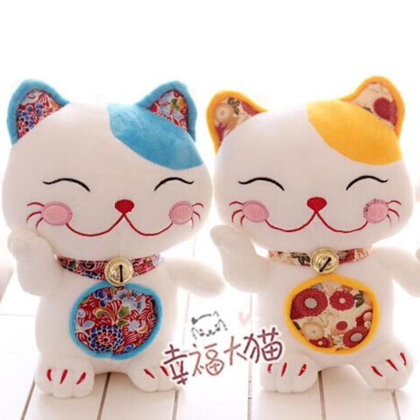 18cm cartoon. Chinese tricks Lucky cat doll. Cat plush toys.3 color creative birthday gift doll. cartoon cute doll cat plush stuffed cat toys 19cm birthday gift cat high 7 5 inches children toys plush dolls gift for girl