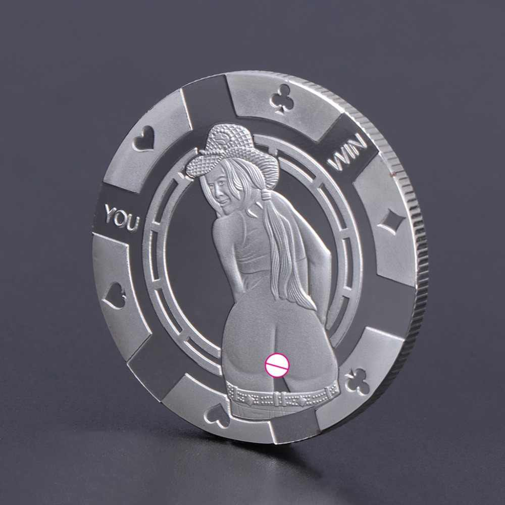 YOU LOSE Charming Collection Arts Gifts Souvenir Commemorative Coin Sexy Woman