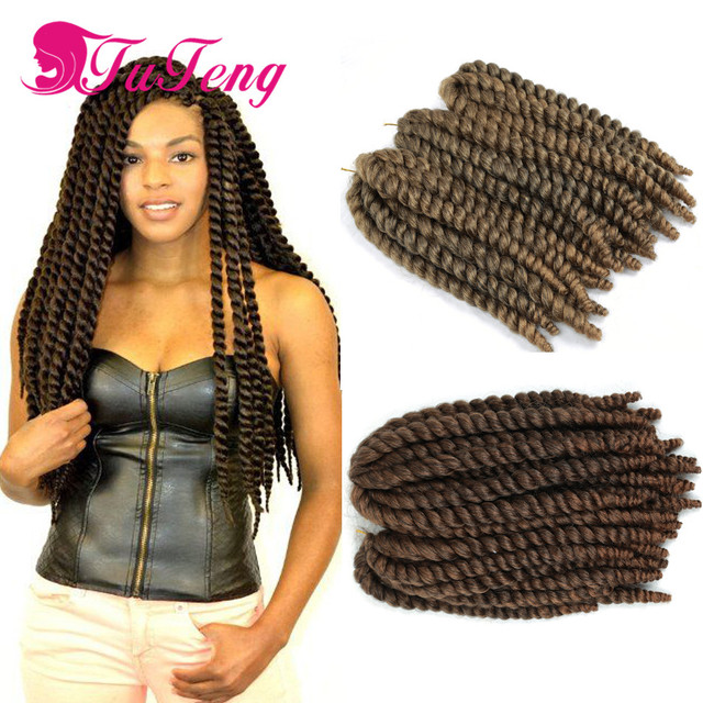 Havana Mambo Twist Crochet Hair Extensions Curly Synthetic Braiding