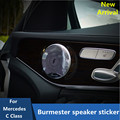 4PCS Burmester design door audio loud speaker cover Trim For Mercedes new GLC C class 2015 2016 W205 C180L C200L C260L