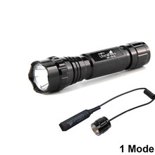 UltraFire тактический фонарь XP-L V6 1 режим дистанционного управления светодиодный фонарь охотничий фонарик 18650 батарея блики фонарик