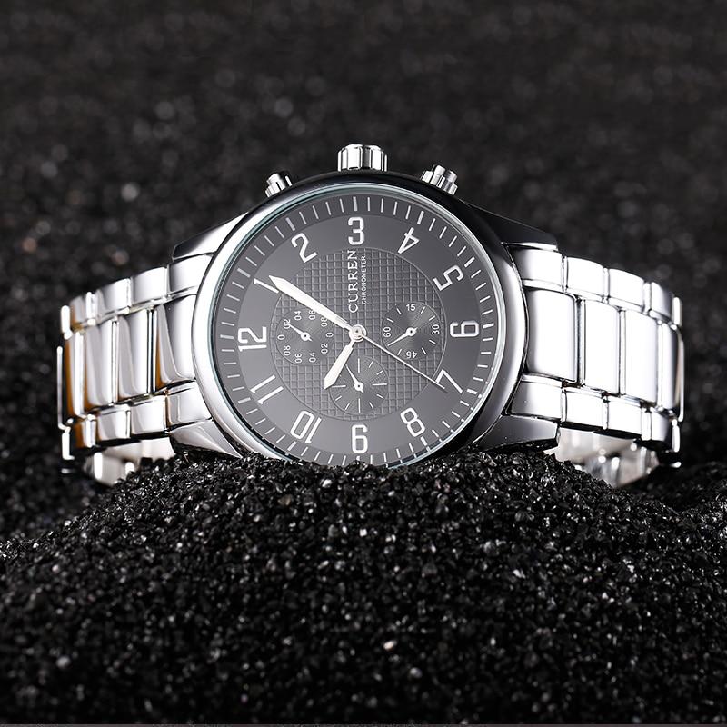 цены на CURREN Top Luxury Brand Quartz watch men Casual Japan quartz-watch stainless steel Mesh strap ultra thin clock male New в интернет-магазинах