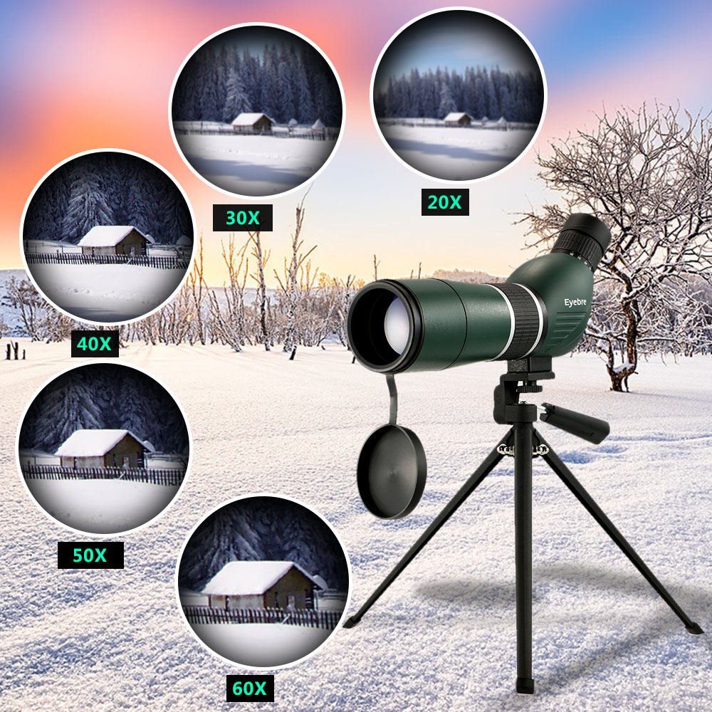 NEW Eyebre 20 60X60 Spotting Scope Binoculars Monocular Telescope For Bird Watching Camping Backpacking With Tripod