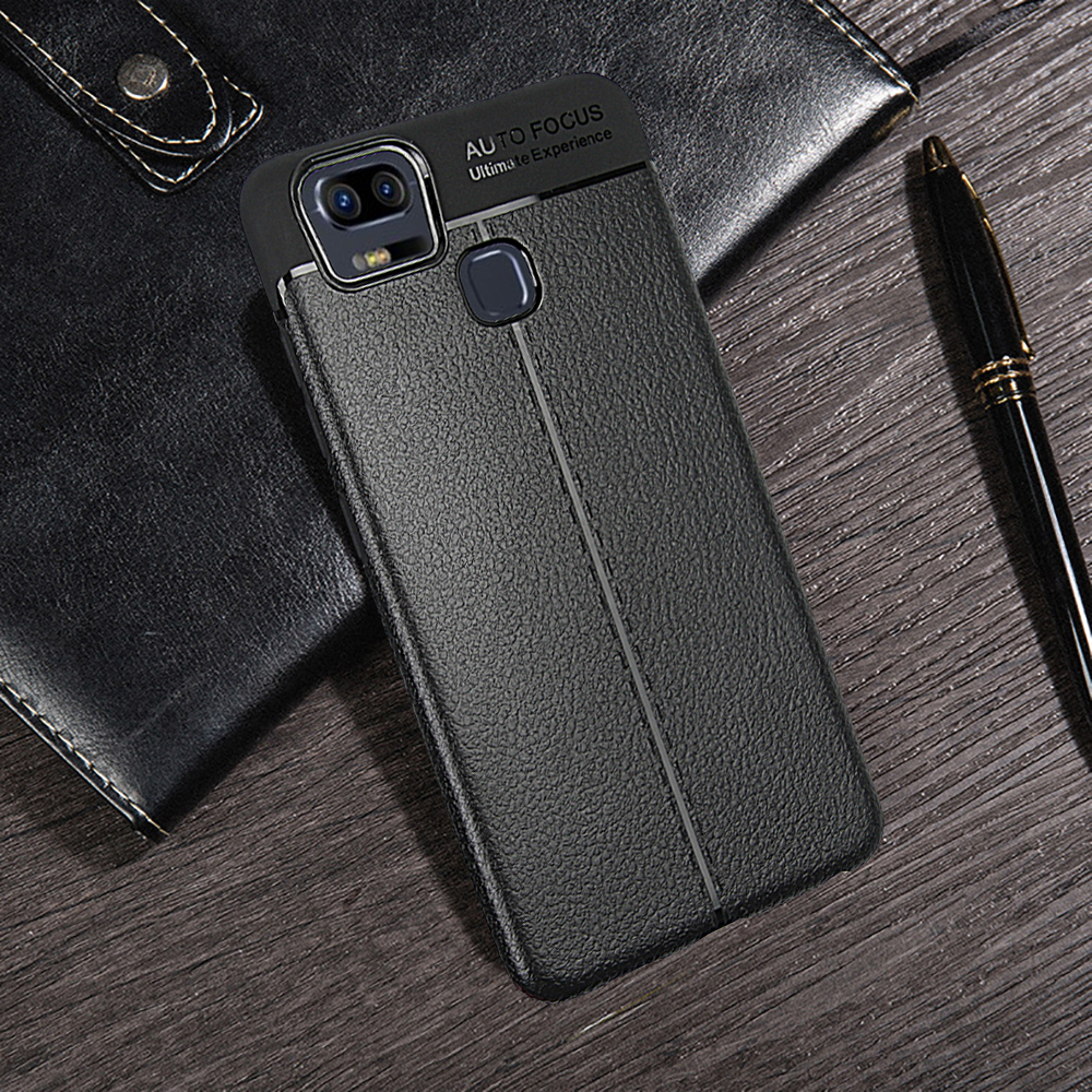 the best attitude b7d91 6d115 for Asus Zenfone 3 ZOOM (ZE553KL) Case Slim Leather Pattern Shockproof  Protective Cover Rubber Silicone TPU Soft Armor Shell Bag