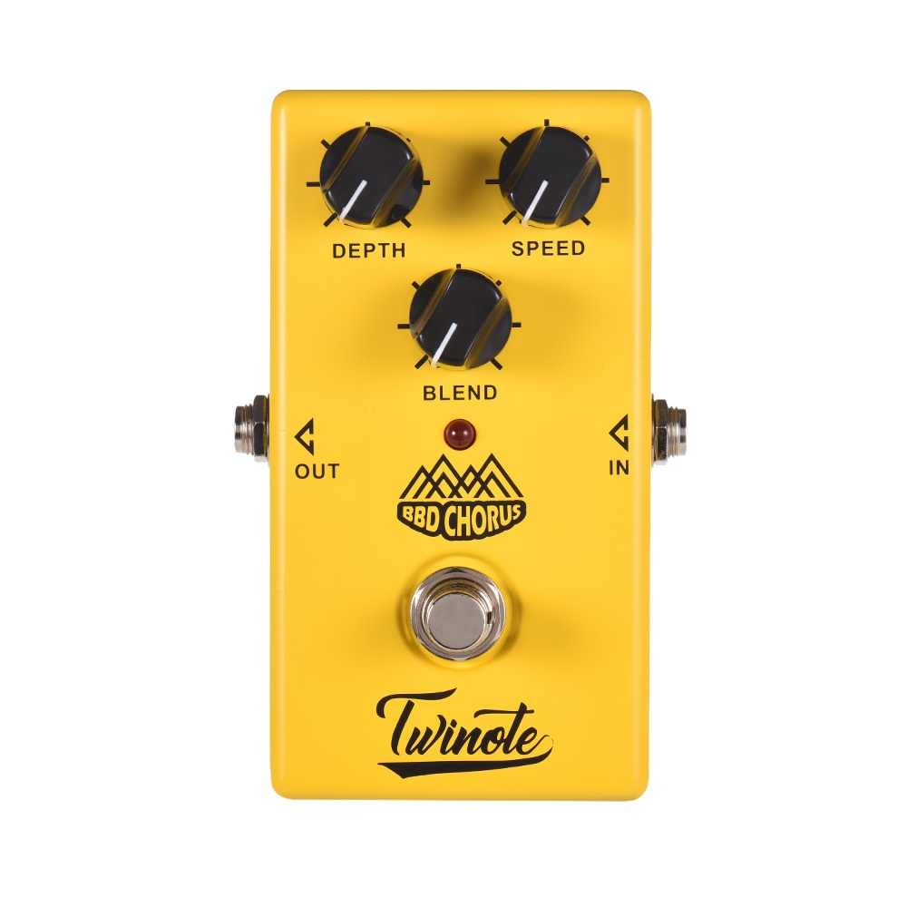 Twinote гитарная педаль 4 эффектов хор низкий уровень шума/овердрайв/высокий коэффициент усиления/симулятор гитары эффектная ножная гитара аксессуары