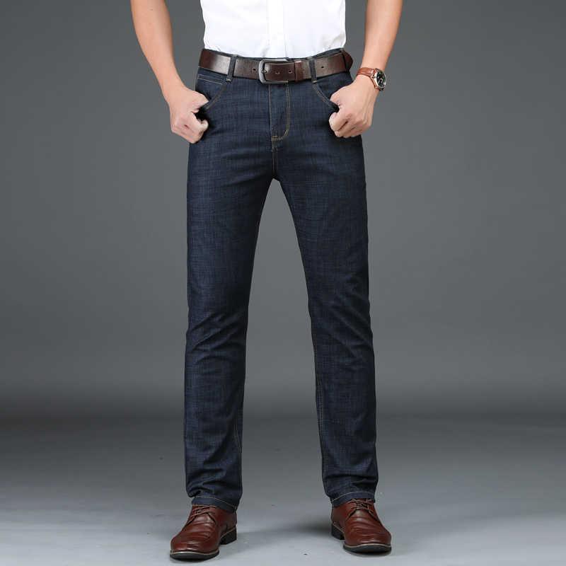 Pantalones vaqueros de Hombre Jean Homme Men'S Classic Vetement Peto Vaquero Hombre Biker Denim Pantalones de Hombre moda recta Slim Fit desgastado