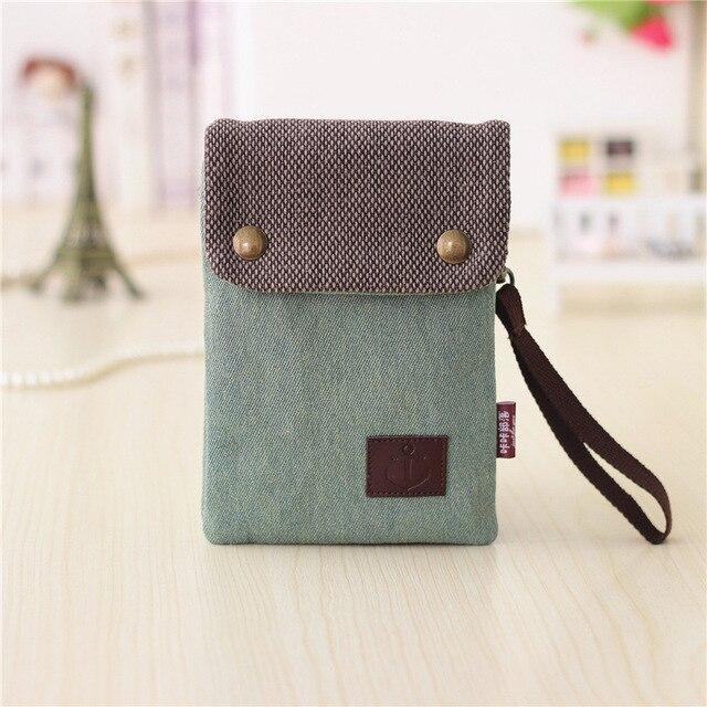 Canvas Denim Women Coin Purse Small Pouch Bags Mini Messenger Bag Female Bolsas