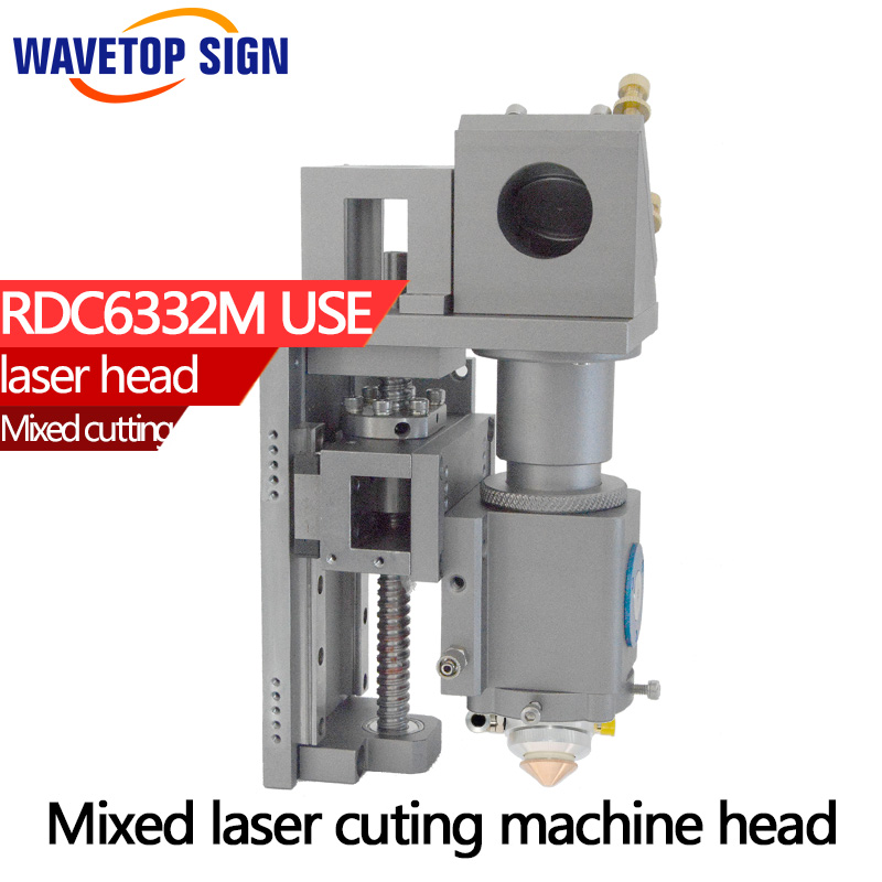 Mixed laser cuting machine  head 500W metal and nometal laser head support max power 500w mirror 30*3mm lens 25*101.6mm laser head khm 210aaa