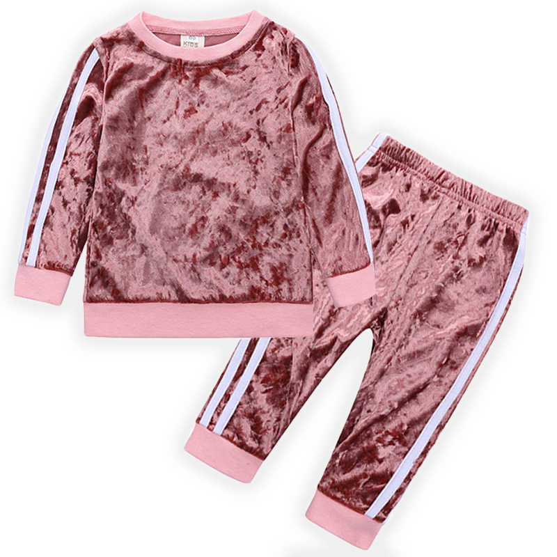 34026be6025 New 2019 Children Clothing Set Winter Thick Baby Toddler Girl Clothes Kids  Clothes Sport Suits Tracksuits