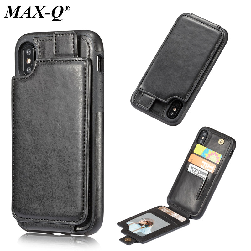 Phone Case For iPhone X Cover PU Leather Luxury Wallet Card Slots Back Capa For iPhone 8 Cases Fundas for iPhone 6/7/6S plus