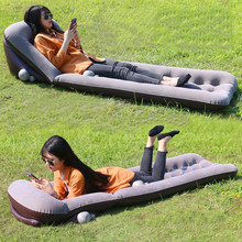 Outdoor Camping Picnic Beach Mat Inflatable Sofa Lazy Sleeping Bag Air Sofa Bed Moistureproof Pad Inflatable Air Lounger Chair