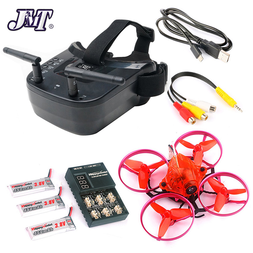 JMT Snapper7 Brushless Micro 5.8G FPV Racer Drone 2.4G 6CH RC Quadcopter RTF 700TVL กล้อง VTX และคู่เสาอากาศ Mini แว่นตา-ใน ชิ้นส่วนและอุปกรณ์เสริม จาก ของเล่นและงานอดิเรก บน   1