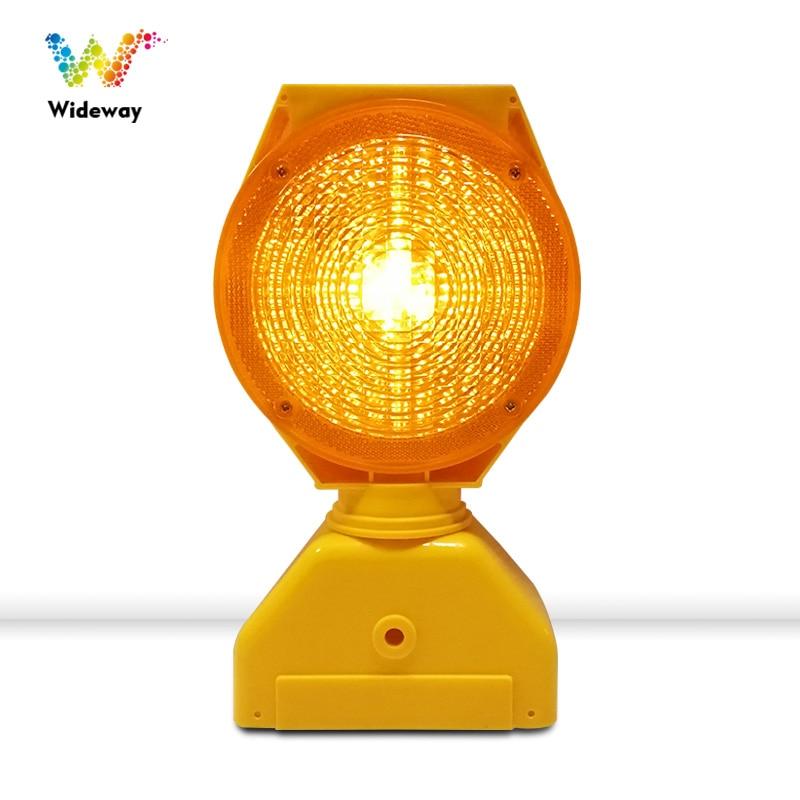 Solar Warning Light  Amber Flashing Strobe Lamp Road Safety Barricade Light
