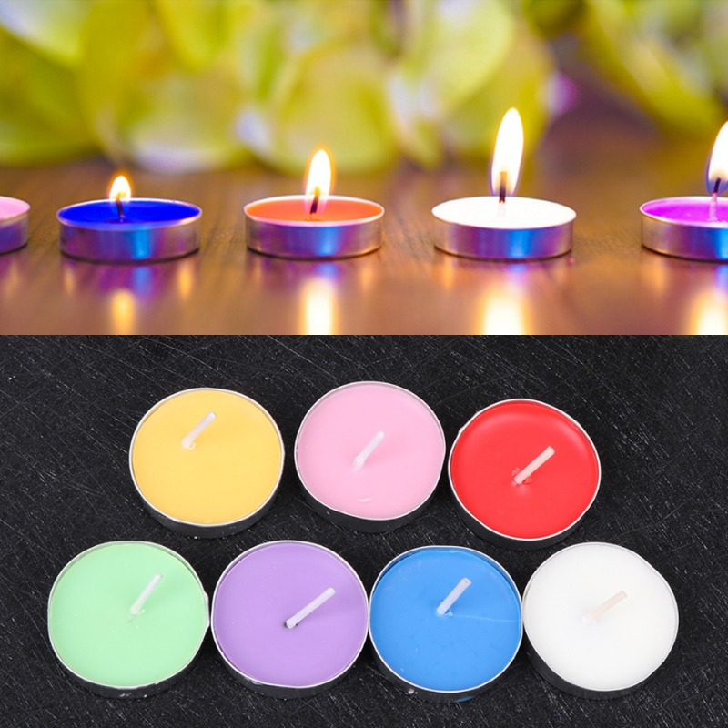 50Pcs/Set Round Shape Candles For Birthday Wedding Party Home Decor Candles Candele Love Gift
