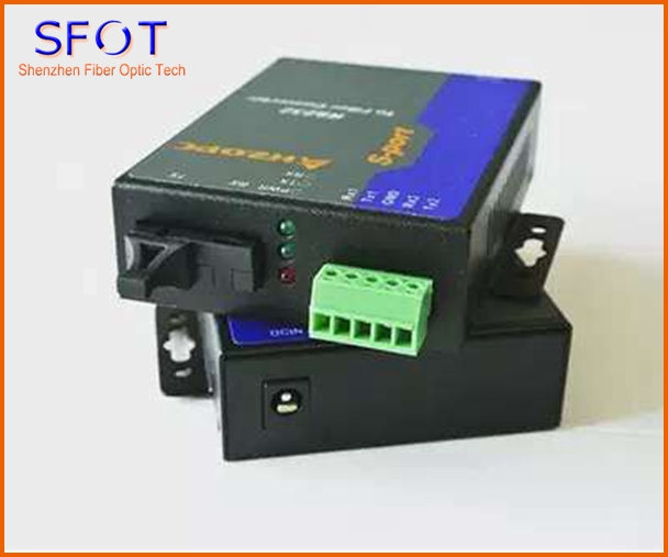RS232 To Fiber Optic Converter, With SC Port, 1 Pair
