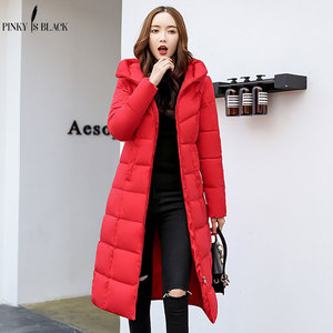 Image 2 - PinkyIsBlack winter jacket women hooded long parkas winter coat women wadded jacket outerwear thicken down cotton padded jacket