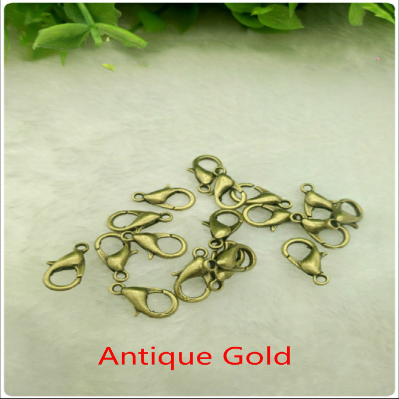 100Pcs 10mm 12mm Lobster Clasps for Jewelry Making Necklace Bracelet Findings
