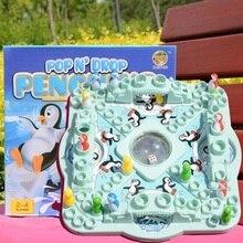 Пингвин Летающие шахматы, прыгающие шахматы, супер большие кости, родитель-ребенок интерактивные развивающие игрушки, детские настольные игры Вечерние игры