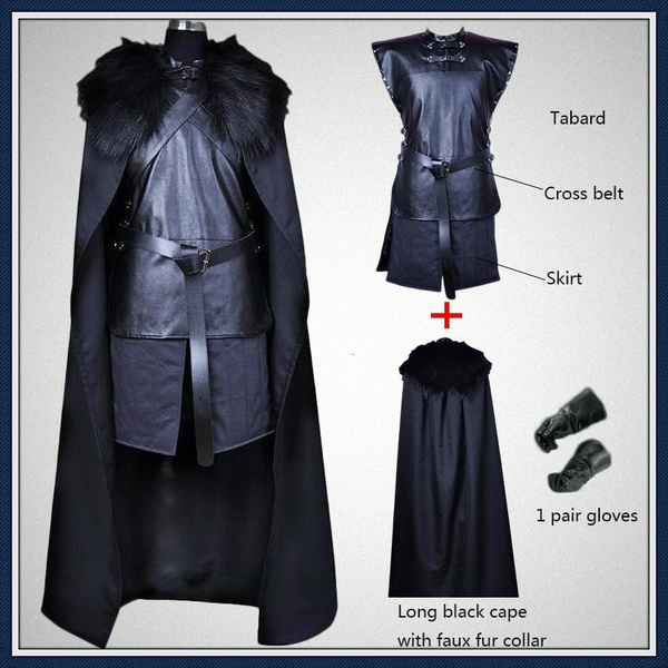 American TV Series Game Of Thrones Cosplay Costume Jon Snow Cosplay Knight Role Play Costume Halloween
