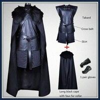 American TV Series Game of Thrones Cosplay Costume Jon Snow Cosplay Knight Role Play Costume Halloween
