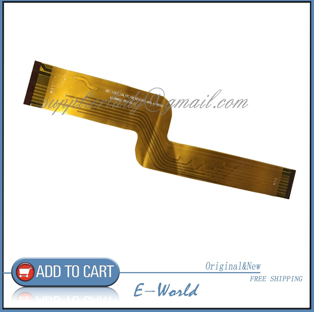 Original LCD screen Cable INET-I101C_LCM_FPC_FOR_KD101N37-40NA-A1-REV02 LXLD5992A for tablet pc free shipping