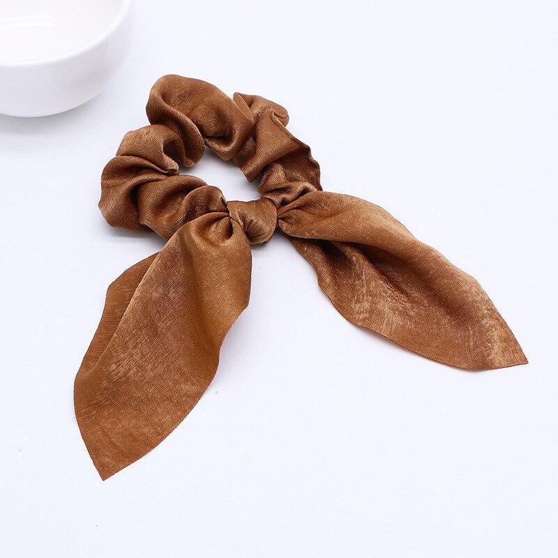 Новинка года. Модные резинки для волос с бантом. Резинки для волос для девочек. Резинки для волос в виде конского хвоста. Аксессуары для волос - Цвет: D Brown