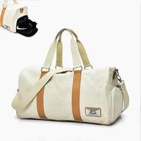 Independent Shose Bag Gym Bag Women Occident Style Canvas Fitness Crossbody Bag Men Outdoor Sport Training