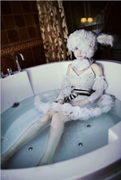 Kuroshitsuji Black Butler Ciel Phantomhive Circus Doll Lolita Party Dress Cosplay Costume dress +hat+belt+socks+oversleeve