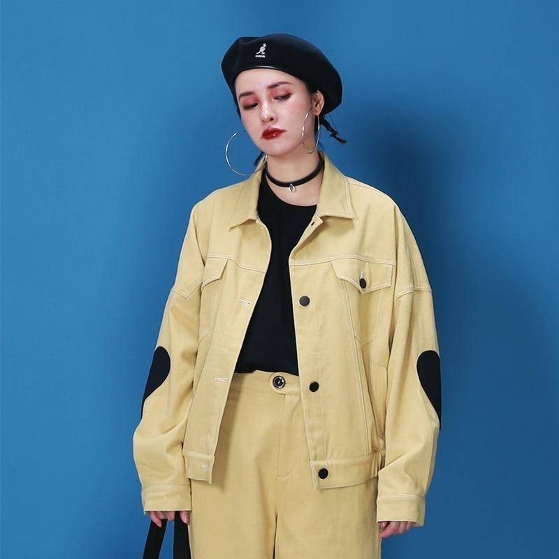 IRINAW355 New Arrival 2018 cute oversize vintage women denim jacket