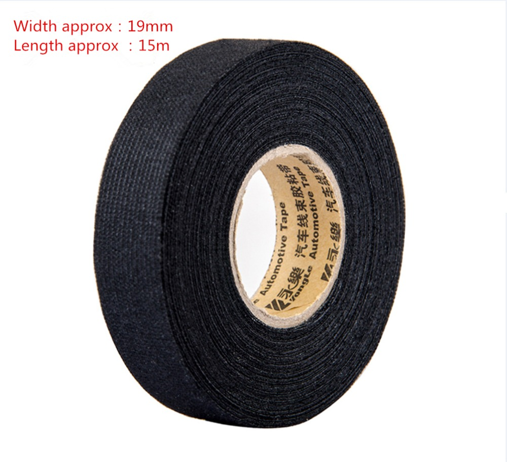 1pcs 0.3mm*1.9cm*15m fabric Cloth Tape automotive wiring harness glue high  temperature tape For car Adhesive Tape Cable Looms-in Tape from Home  Improvement ...