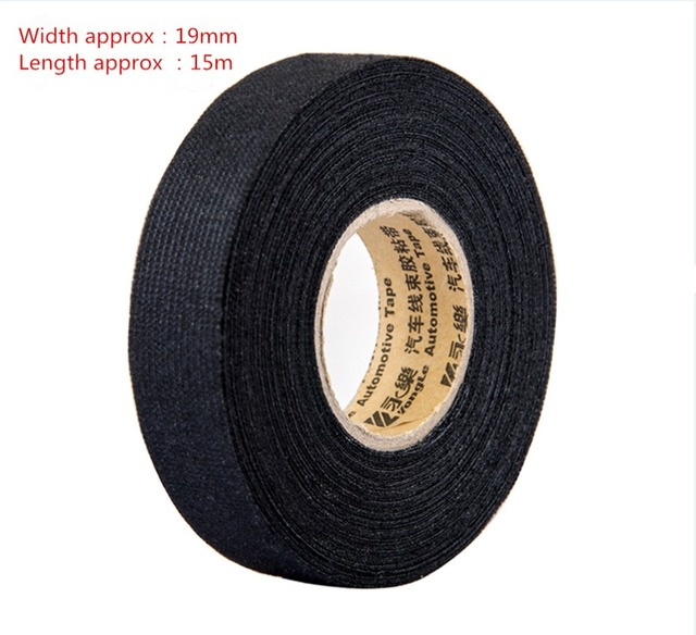1pcs 0 3mm 1 9cm 15m fabric cloth tape automotive wiring harness 1pcs 0 3mm 1 9cm 15m fabric cloth tape automotive wiring harness glue high