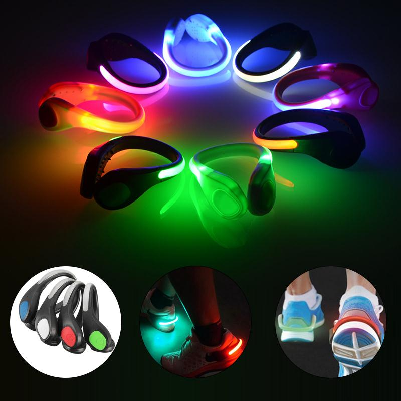 Outdoor sports luminous shoes clip night safety shoe light safety warning reflector flashing lights for bike
