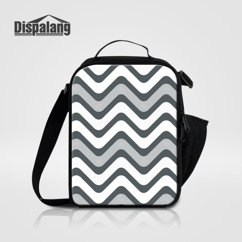 Dispalang Striped Printing Lunch Bag For Women School Kids Mini Insulated Thermal Lunch Food Box for Travel Picnic bolsa termica