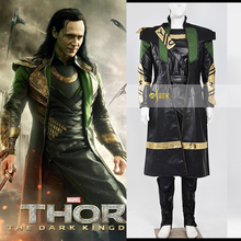 Thor The Dark World Loki Cosplay Costume The Avengers Age of Ultron Superhero Outfit for Halloween Party