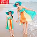 2015 Matching Mother Daughter Clothes Family Look Matching Mom and Daughter Dress Parent-child Outfit  Ma e Filha Maxi Dress