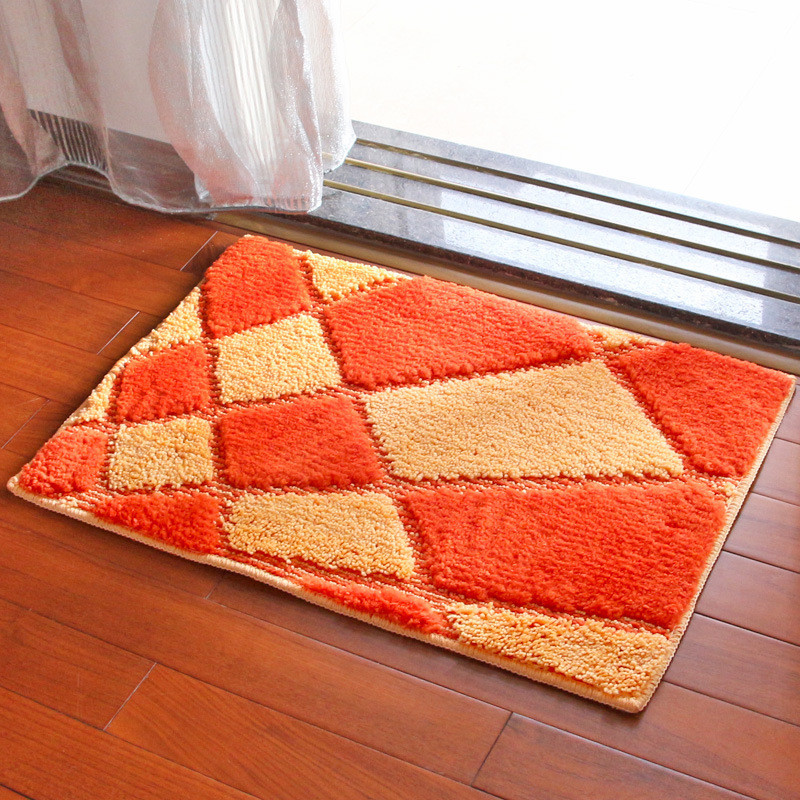 Super-absorbent Silky Flocking Carpet Mats Sofa Bedroom Living Room Anti-Slip Floor Soft Carpets Bedroom Home Supplies