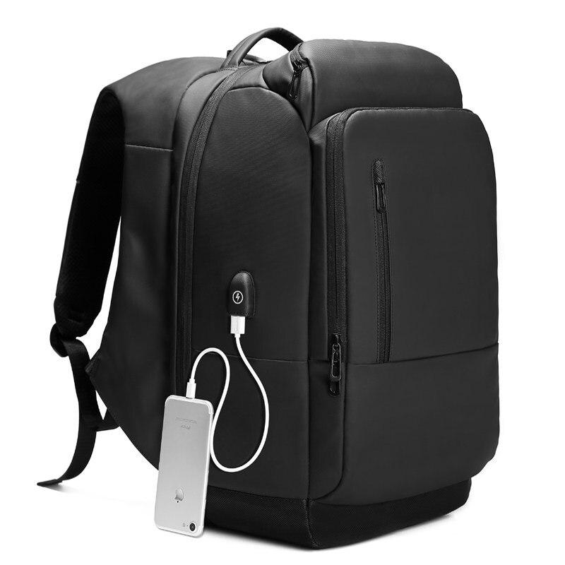 2020 многофункциональные водонепроницаемые 15,6 дюймовые рюкзаки для ноутбука, мужские рюкзаки с usb зарядкой большой емкости, модные мужские р... - 2