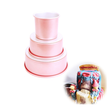 1pcs 4/6/8/ Inch Round Pans Chiffon Cake Mold Pretty Baking Pan With Removable Bottom Silicone Mousse Dessert Accessories